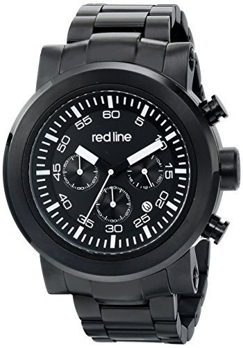 red line Men's RL-50050-BB-11 Torque Sport Analog Display Japanese Quartz Black Watch (Red Line Chronograph compare prices)