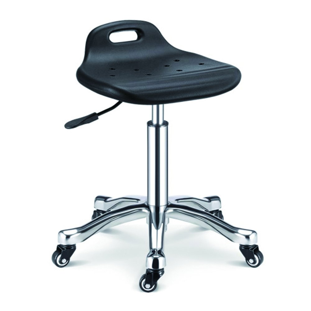 Hydraulic Adjustable Height Rolling Stool Spa Facial Massage (Black) GreenLife