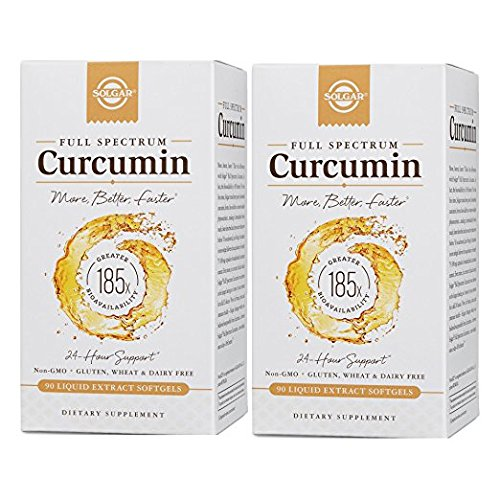 Solgar - 2 PACK - Full Spectrum Curcumin 185x Better Bio-Availability Turmeric Liquid Extract Softgels 90 Count by Solgar