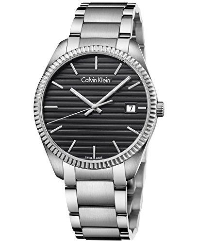- Calvin Klein Alliance Black Dial Stainless Steel Men's Watch K5R31141