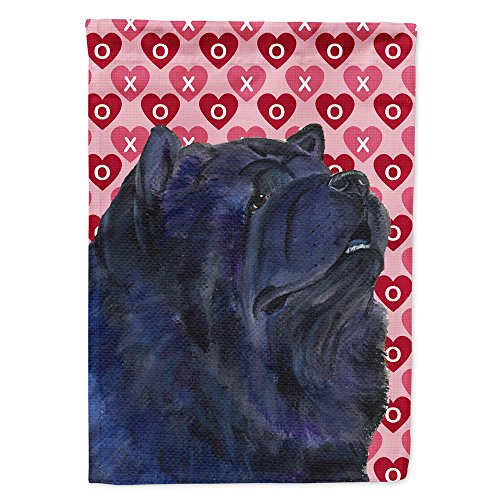 Caroline's Treasures SS4501GF Chow Chow Hearts Love and Valentine's Day Portrait Flag, Small, Multicolor ()