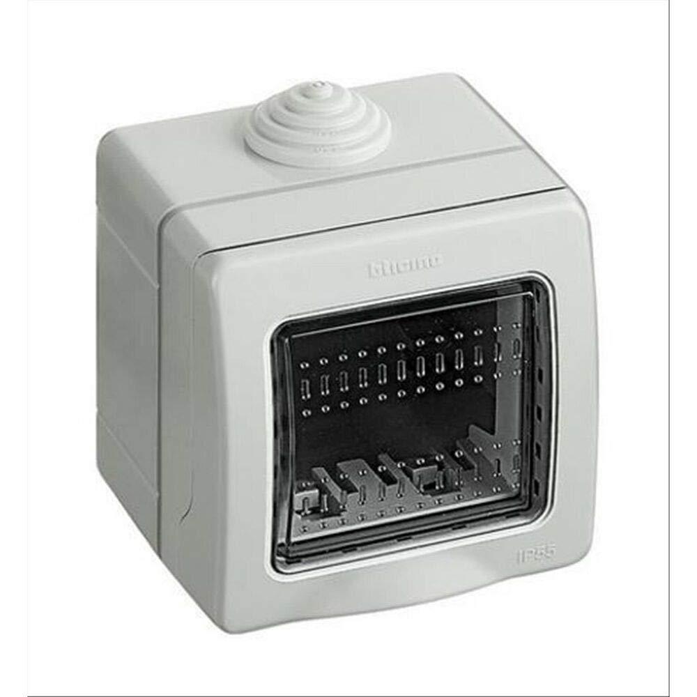 Estanque Caja de 2 m/ódulos para interruptores de Pared IP55 Placa de Puerta JK/_LK44002 Caja para Exterior takestop/® protecci/ón de enchufes