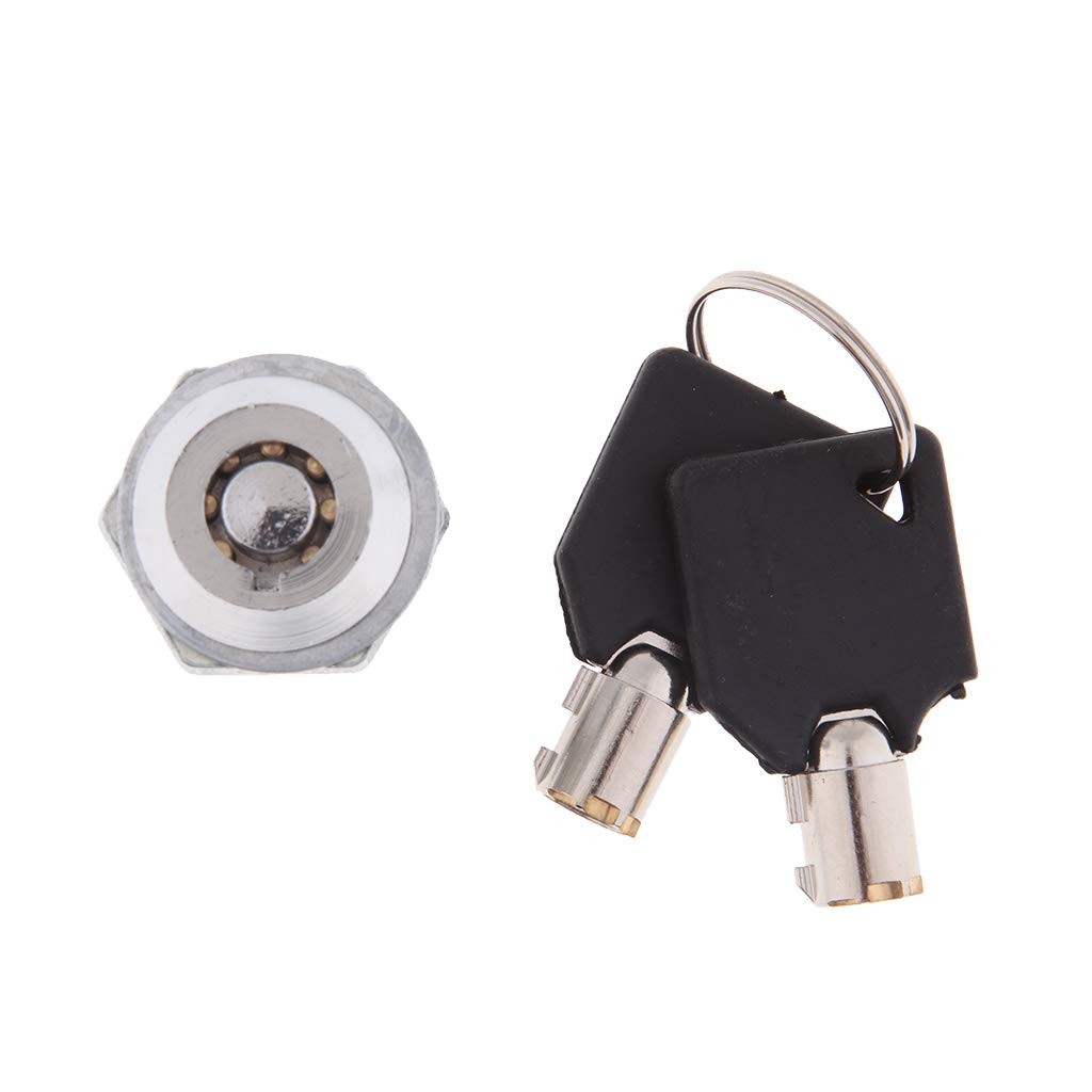 Flameer Metal Motorcycle Tour Pack Lock with 2 Keys Kit for Harley Touring 1997-2013