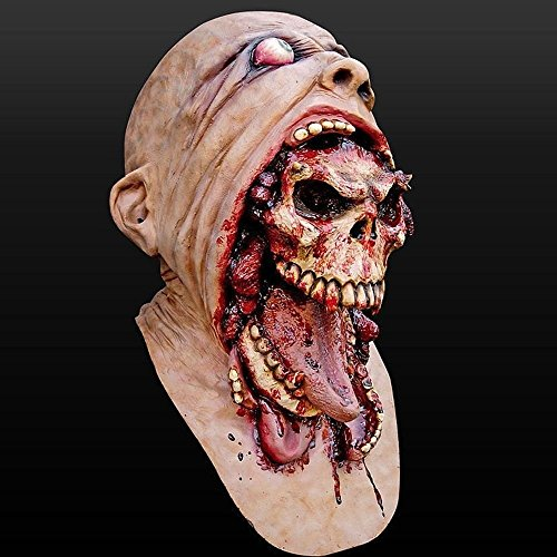 Hot Sale Halloween Bloody Zombie Mask Melting Face Adult Latex Costume Walking Dead Halloween Supplies - Festival Gifts & Party Supplies - Masks & Headpieces -