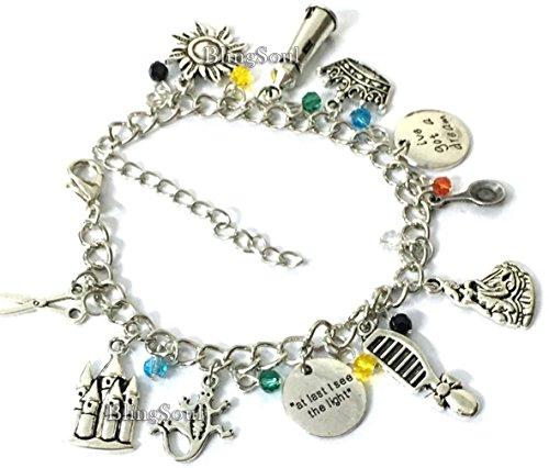Tangled Charm Bracelet Jewelry Merchandise - Disney Flynn Rider Costume Prop