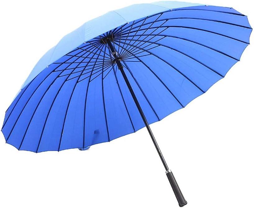 Business Travel Work Color : Orange AZZ Windproof Long Handle Business Umbrella Windproof Strong Ribs 24 Ribs Quick-Drying Folding Waterproof Umbrella