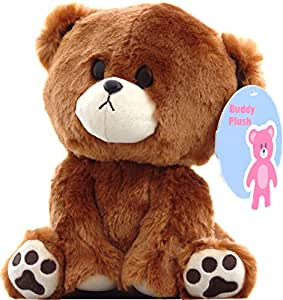 "Buddy the curious Teddy Bear Plush Stuffed Animal - Cute Toy Gift Children Girlfriend 9"" by Buddy Plush"