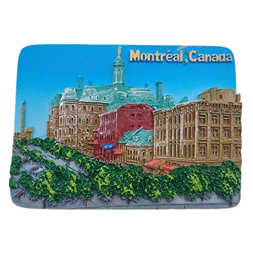 Montreal Canada Magnets Refrigerator Stickers Resin 3D Funny