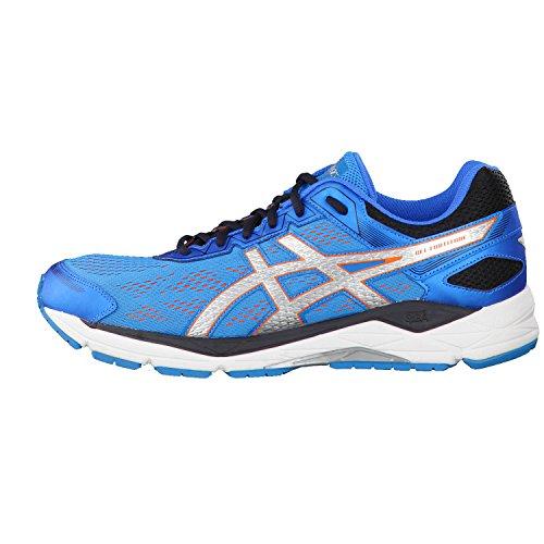 Asics - Zapatillas de running de tela para hombre Blue Jewel/Silver/Flame Orange