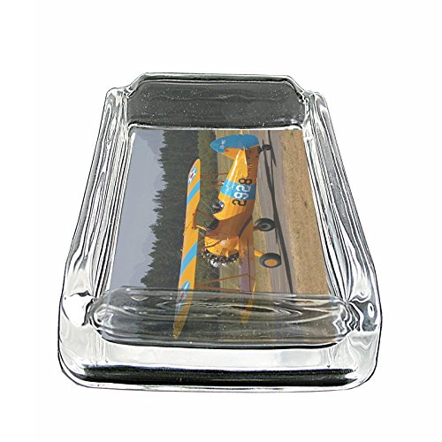 Vintage Airplane Aircraft S15 Glass Square Ashtray for sale  Delivered anywhere in USA