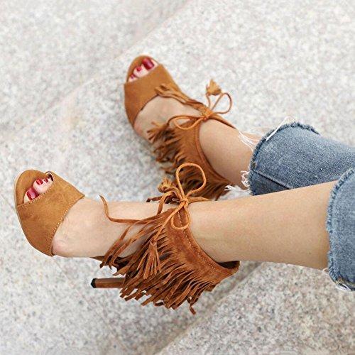 travail soire bottes chaussures en pour de Tassel pointues chaus daim Une Party sandales d't hauts glissire chaussures femmes formel robe d'affaires amp; Chaussures fermeture mariage Lady Shoe talons qxZYIEUU