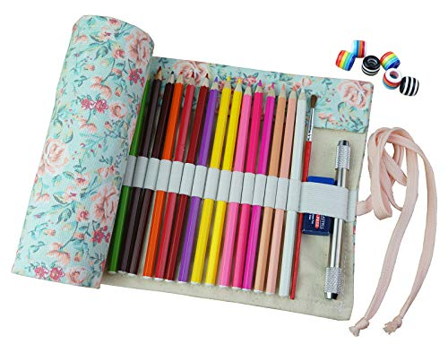 CreooGo Canvas Pencil Wrap, Travel Drawing Pencil Roll Organ