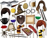 Wizard Castle Photo Booth Props Kit - 26 Pack Party Camera Props