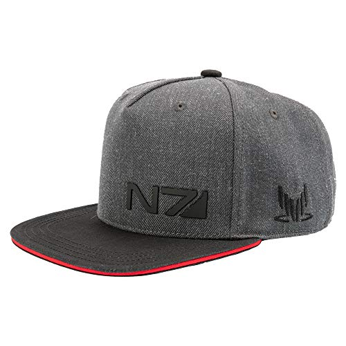 - JINX Mass Effect N7 Special Forces Snapback Baseball Hat, Charcoal Heather