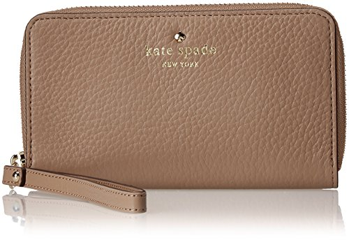 kate spade new york Cobble Hill Medium Lacey Wristlet, Warm Putty, One Size