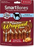 SmartBones Chicken Wrapped Sticks Dog Chews, Chicken, 8 Count, 24 Pack