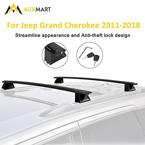 AUXMART Roof Rack Crossbars for Jeep Grand Cherokee 2011 2012 2013 2014 2015 2016 2017 2018(Only fit LIMITED and OVERLAND models)