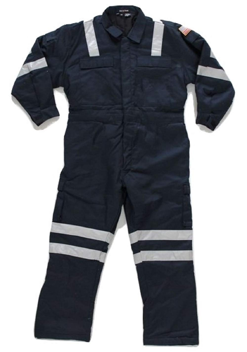 Premium High Visibility Hi Vis Coveralls with Leg Zipper (5XL - Regular, Navy Blue) by Just In Trend (Image #1)