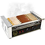 Hot Dog Grill Roller Commercial 18 Hotdog Maker Warmer Cooker Machine 7-Rollers Review