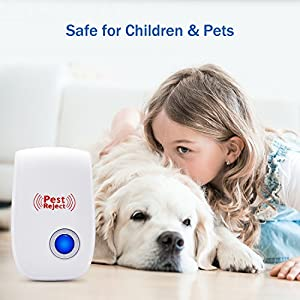 [2018 NEW]Ultrasonic Pest Repeller Plug in Pest Control - Electrical Mice Repellent & Bug Repellent in Pest Repellent - Ant Repellent for Mosquito,Rat,Flea,Fly,Roach,Spider-No More Trap & Spray-4 PACK