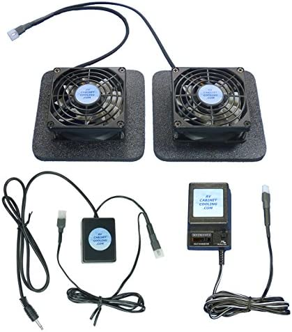 Receiver or Amplifier 12 Volt Trigger-Controlled Cooling Fans 12v with Enlarged Airchamber Bases multispeed