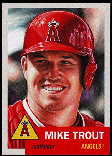 2019 Topps The MLB Living Set #200 Mike Trout Los Angeles Angels Official Baseball Trading Card with Facsimile Red Autograph on Back