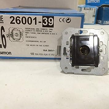 Simon 26001-39 Portafusible