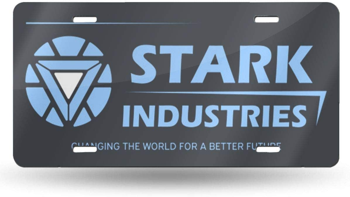 MYGED Plaques dimmatriculation r/étro Stark Industries pour d/écoration de Voiture 6 po x 12 po