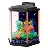 Aqueon NeoGlow LED Hexagon Orange Aquarium Kit, 8 gallon/15''L x 13.25''W x 15''H