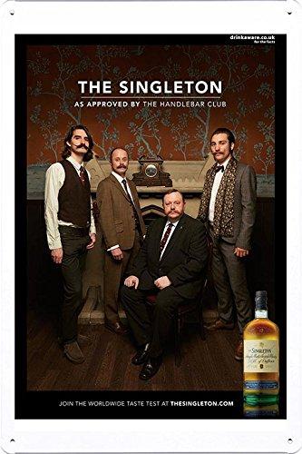 Tin Sign Metal Poster Plate  of Whisky: The Handlebar Club b