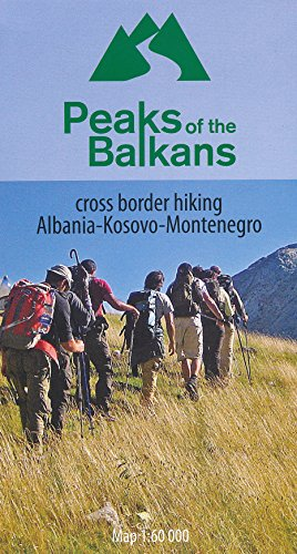 Albania - Kosovo - Montenegro 1:60,000 cross border hiking map HU...