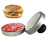 #10: Extra Heavy Non-Stick Burger Press-Aluminium Large Hamburger Patty Maker For Stuffed Burgers, Sliders and Patties for BBQ Grill Non-Stick Coating- Best Rated BBQ Grill Tool Accessories- Ideal Gift