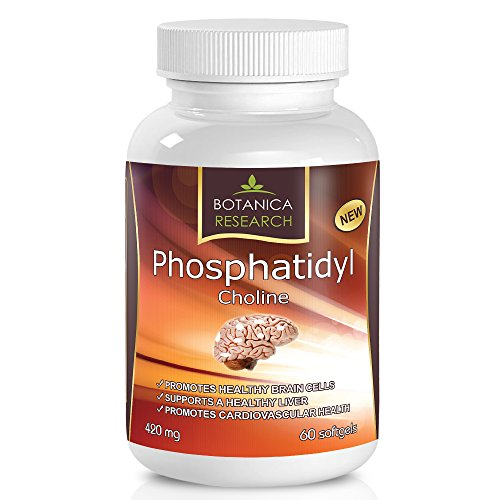 PhosphatidylCholine Complex An All Natural Nootropic Formula For Brain Health, Liver & Cognitive Support 60 Phosphatidyl Choline Capsules by Botanica Research