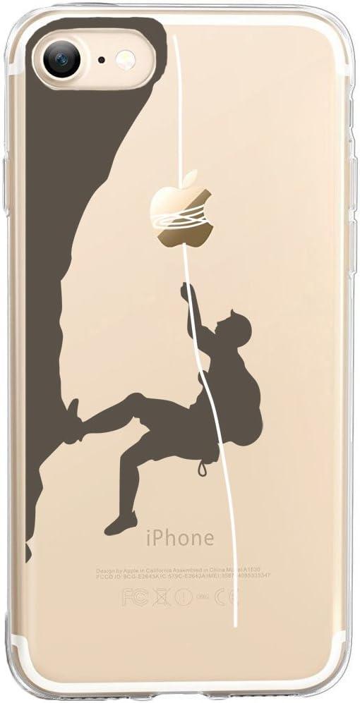 Funda iPhone 7, TrendyBox Cute Funda para iPhone 7 (Escalada de roca)
