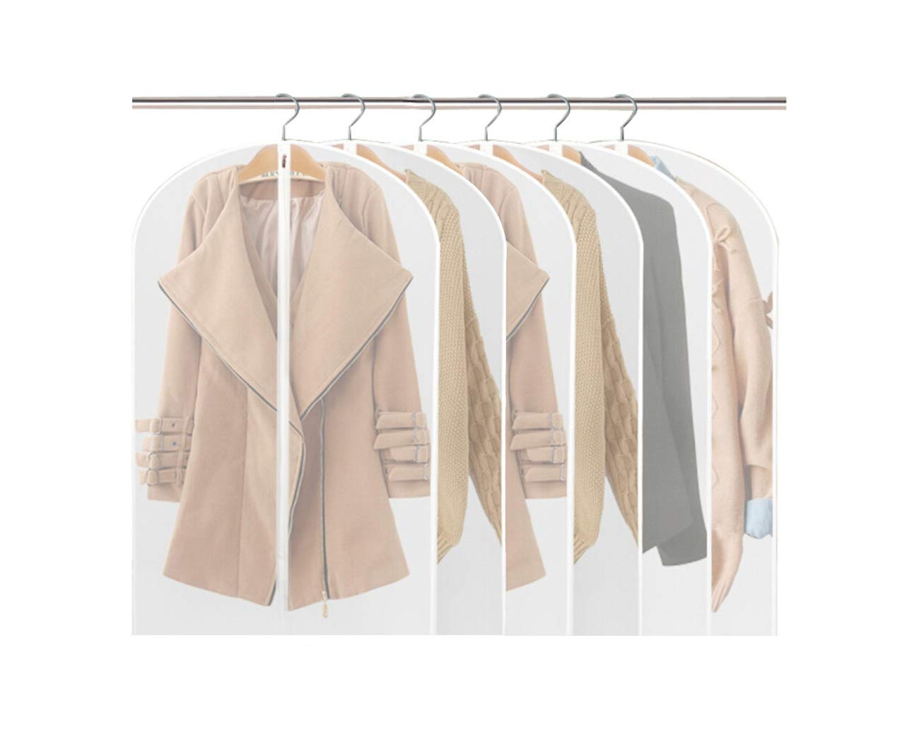 Fundas de ropa,Fundas Ropa PEVA Transparente Impermeable Anti-polvo a Prueba de Humedad