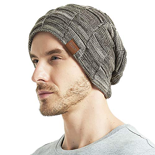 REDESS Beanie Hat for Men and Women Winter Warm Hats Knit Slouchy Thick  Skull Cap(2 Packs Black Blue) at Amazon Men s Clothing store  054970cf19a