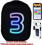CYB Smart LED Backpack with Customizable Digital