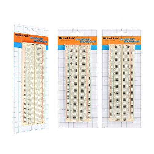 3PCS 830Ties Solderless Breadboard,Clear Prototype PCB Board Kit for Proto Shield Circboard Prototyping