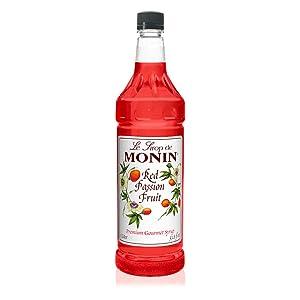 Monin Red Passion Fruit Syrup, 1 Liter