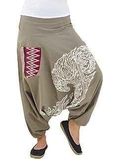 Como Cagados Bombacho Pantalones Pantalón Mujer Yoga Virblatt xnHq01XRw 339bb37dc39