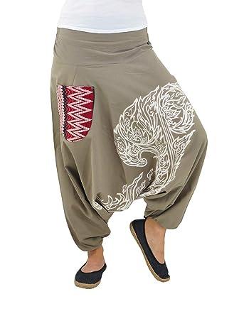 4d0dd8c347a22 virblatt Pantaloni alla Turca Donna Pantaloni Etnici Larghi Donna Harem  Pants Yoga - Kanok tksm