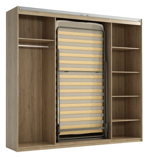 schrankbett klappbett kleiderschrank 215325 san remo eiche 90 x 200 cm bettmix. Black Bedroom Furniture Sets. Home Design Ideas
