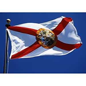 Allied Flag Outdoor Nylon State Flag, Florida, 3-Foot by 5-Foot