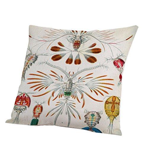 Littay Pillowcase 18inch x 18inch,Home Decor Geometry Cotton Linen Pillow Case Sofa Throw Cushion Cover -