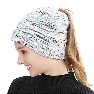 Tusscle Bonnet d'hiver Chapeau Unisexe Bonnet Tricoté de Ski Slouch Chaud Beanie de Crâne pour Plein Air et Quotidien et Femme Homme