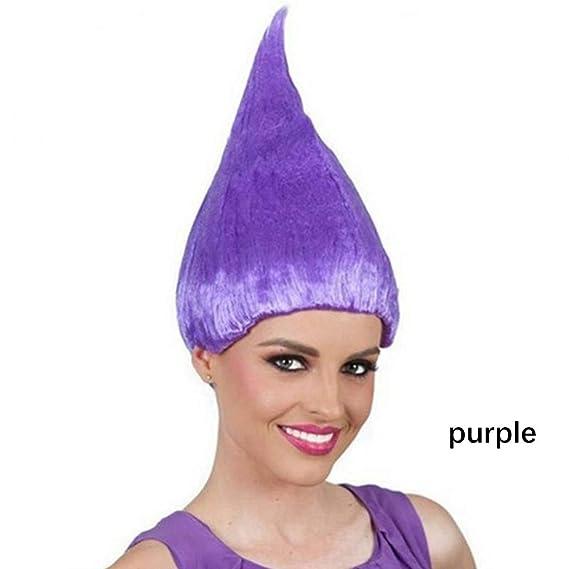 Troll Wig, Kapmore Peluca de Halloween Peluca de Colores Peluca de Pelo Divertido Creativo Fiesta de Disfraces Peluca Para Vacaciones: Amazon.es: Belleza