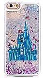 Dynamic Glitter Quicksand Hard Case Bumper for Apple Clear Cover - Princess Blue Castle of Dreams (iPhone 6 Plus / 6S Plus)