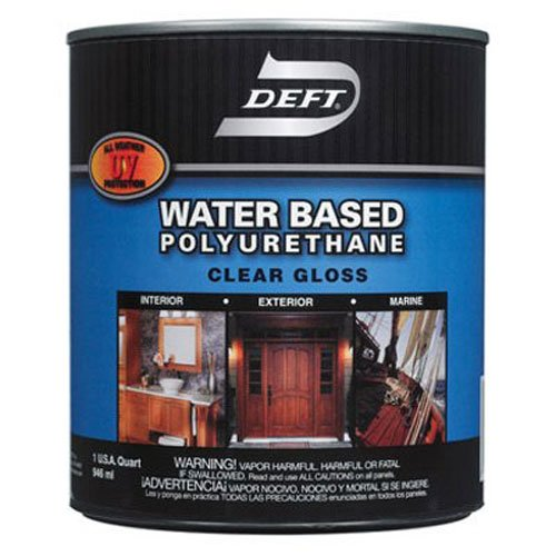 (Deft Interior Exterior Water-Based Polyurethane Finish Gloss, Quart)