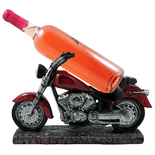 Vintage Motorcycle Wine Bottle Holder Sculpture for Classic Chopper & Cycle Model Statues As Decorative Bar or Kitchen Decor Tabletop Wine Racks & Stands and Retro Biker Gifts - Classic Sculpture