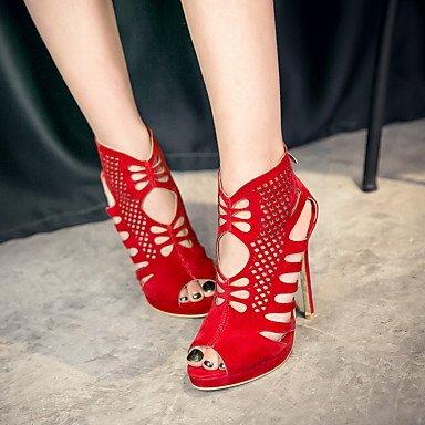 LvYuan Mujer-Tacón Stiletto-Otro-Sandalias-Vestido Informal Fiesta y Noche-Vellón-Negro Rojo Black